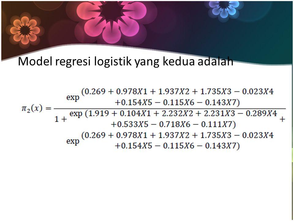 Model regresi logistik yang kedua adalah