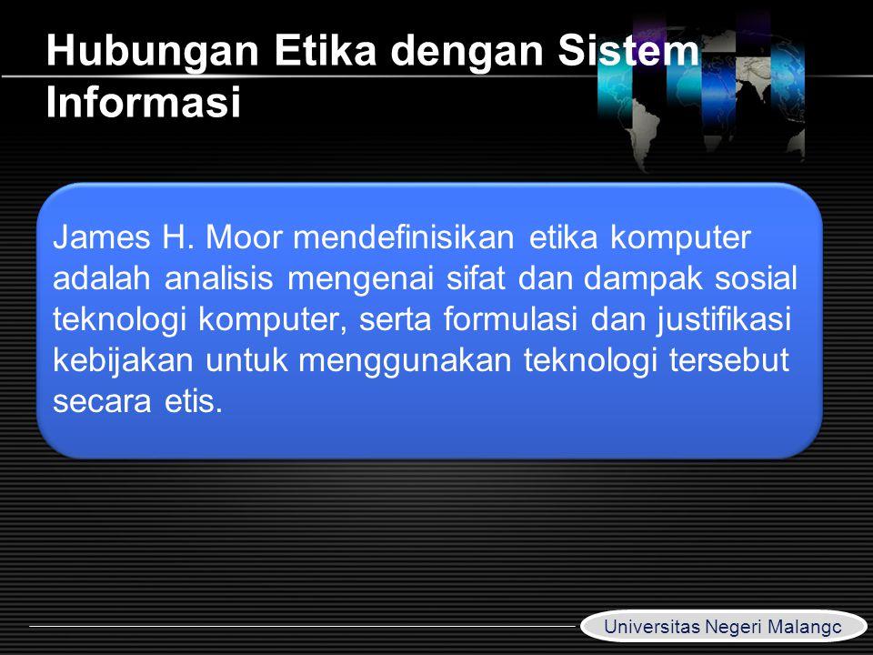 Hubungan Etika dengan Sistem Informasi