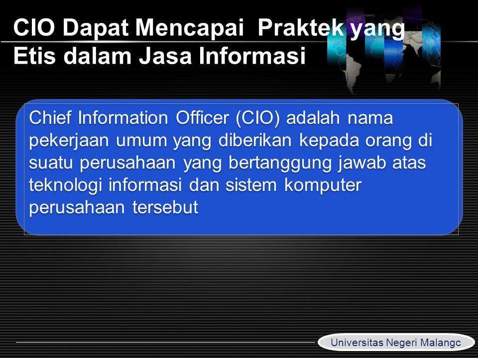 CIO Dapat Mencapai Praktek yang Etis dalam Jasa Informasi