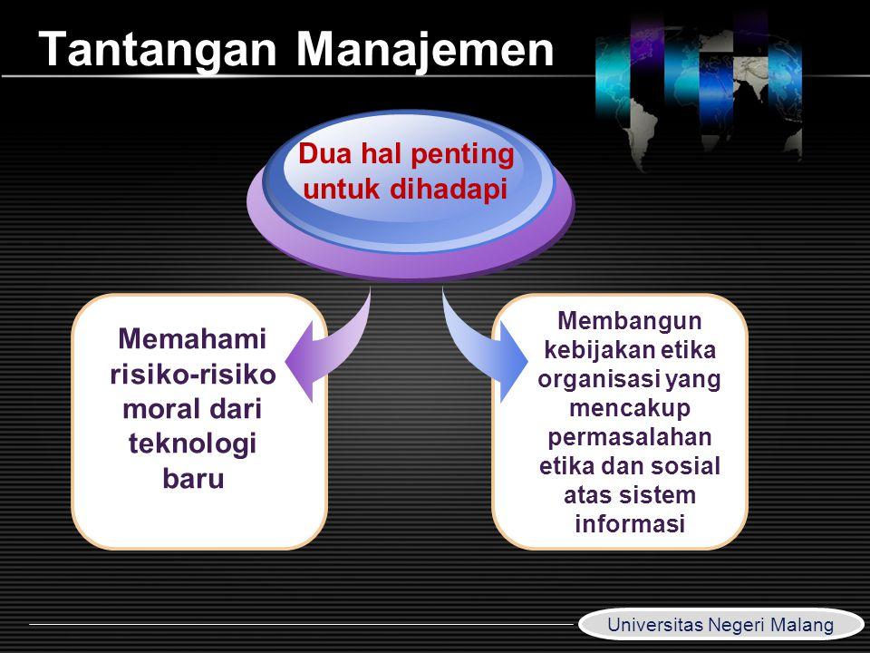Tantangan Manajemen Dua hal penting untuk dihadapi
