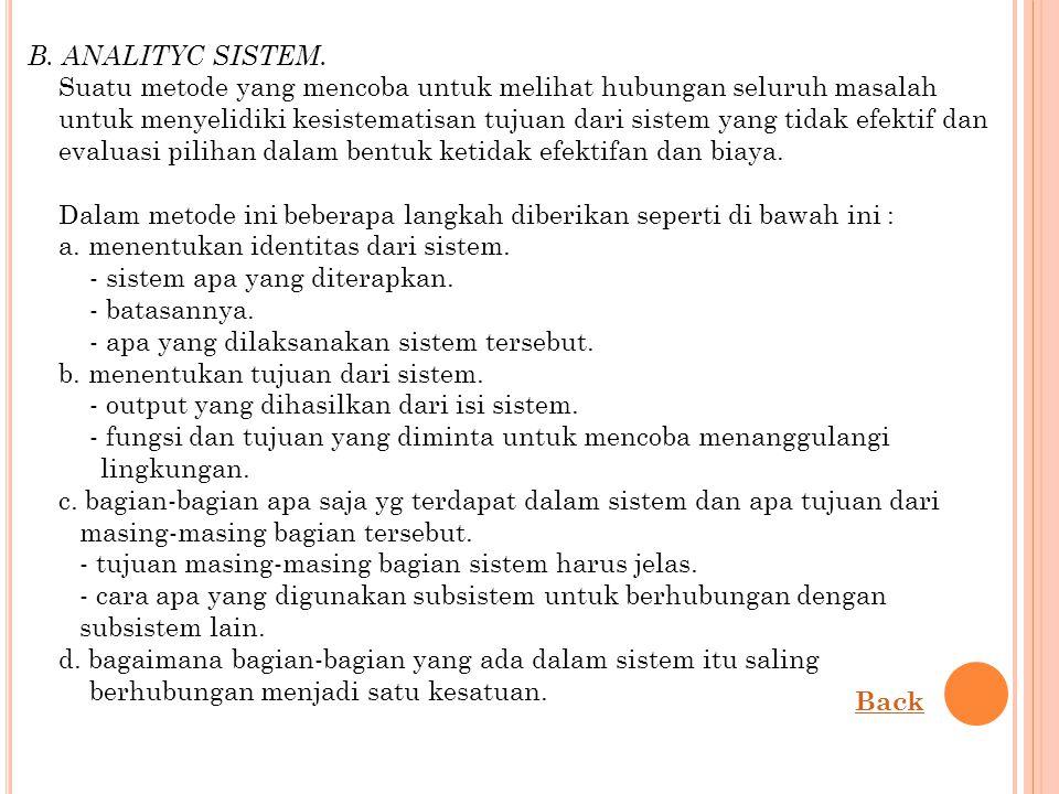 B. ANALITYC SISTEM.