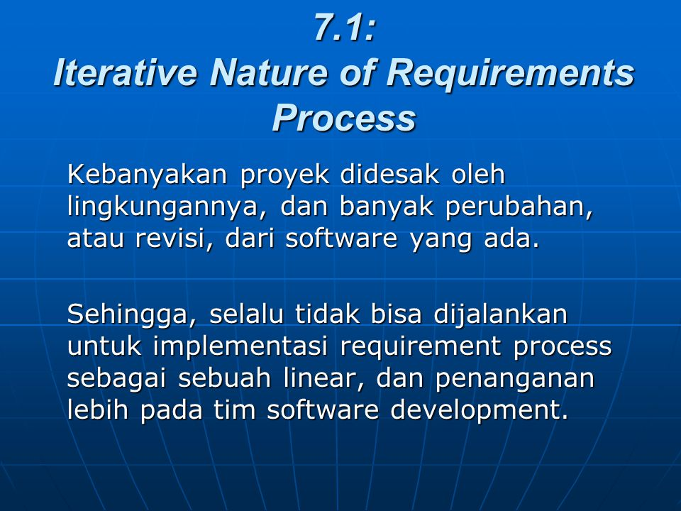 7.1: Iterative Nature of Requirements Process