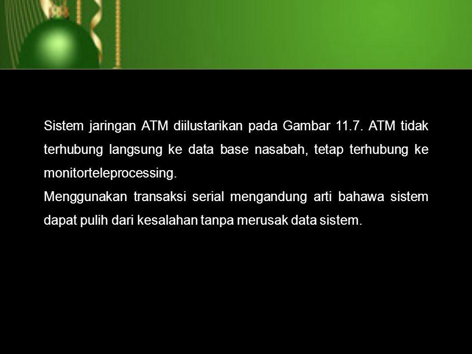 Sistem jaringan ATM diilustarikan pada Gambar 11. 7