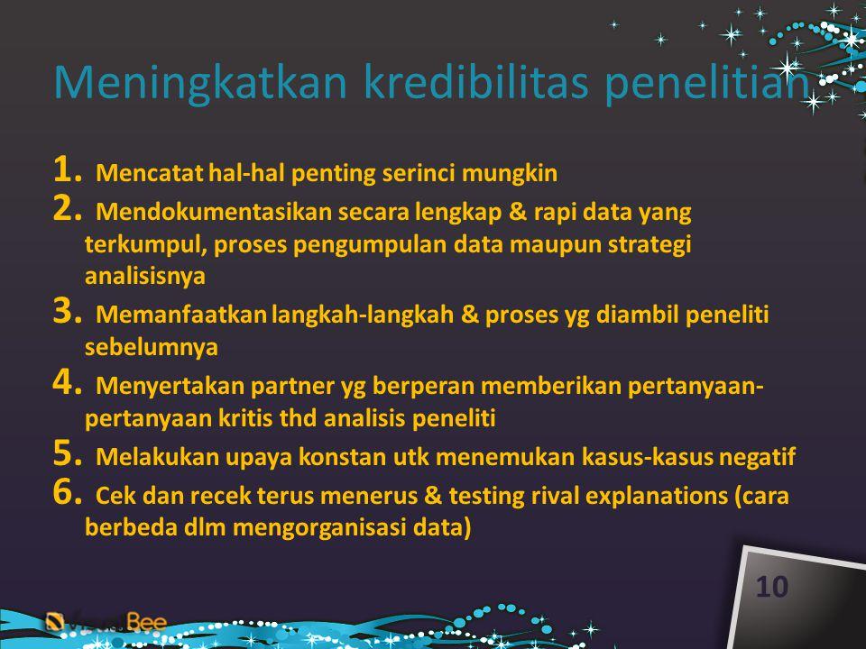 Meningkatkan kredibilitas penelitian