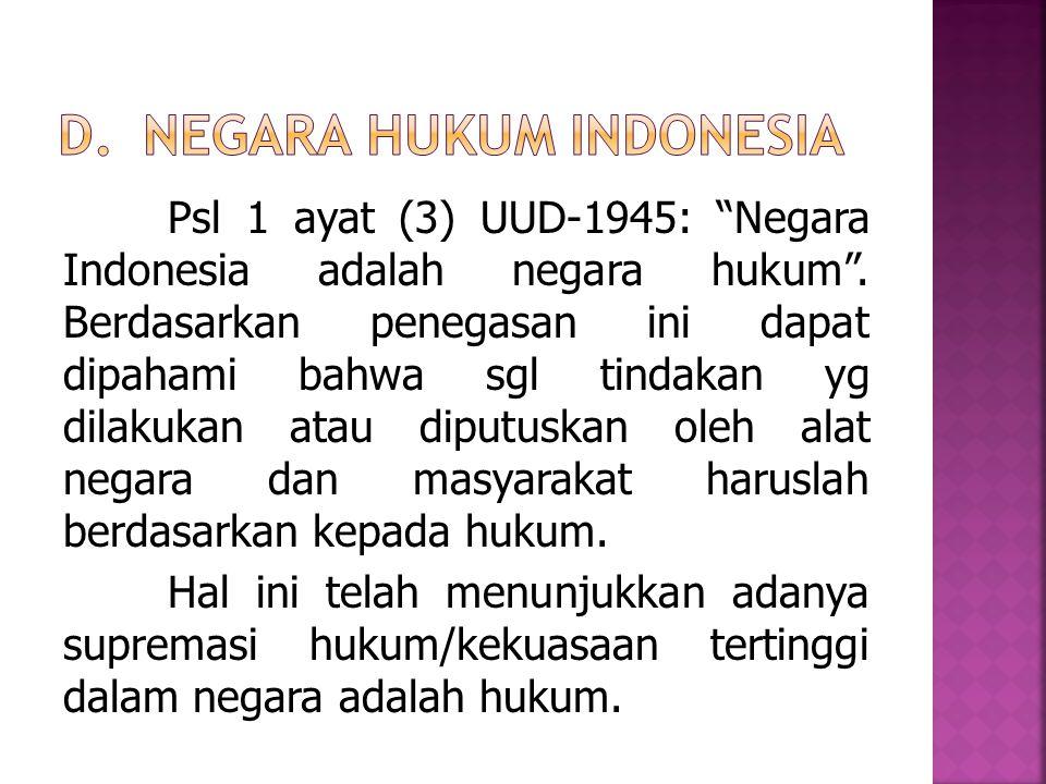 Negara Hukum Indonesia