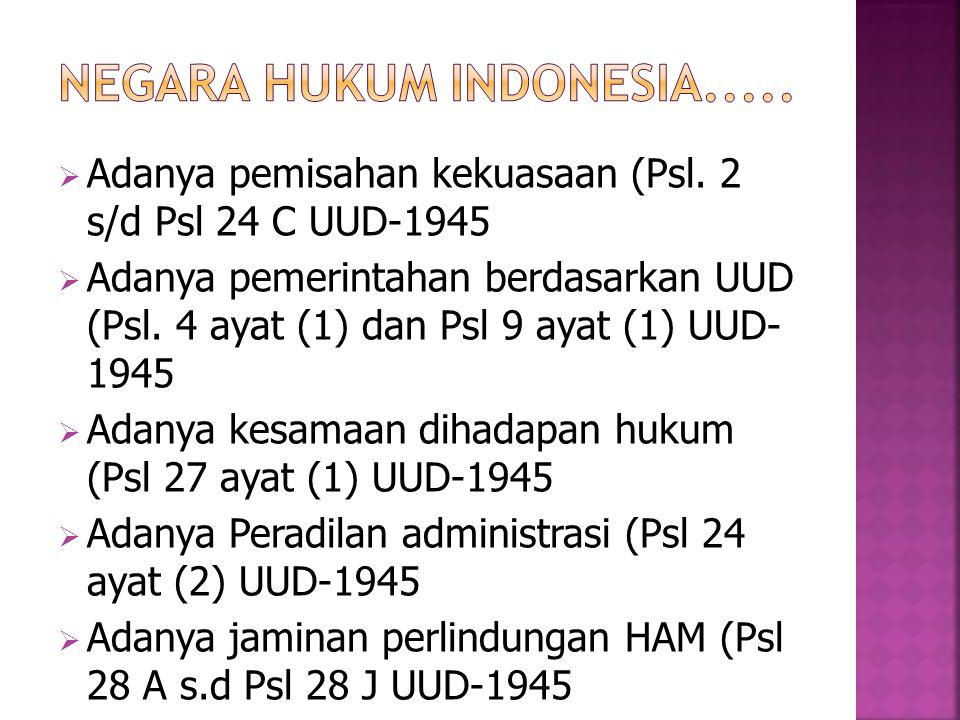 Negara Hukum Indonesia.....