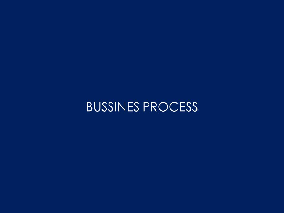 BUSSINES PROCESS