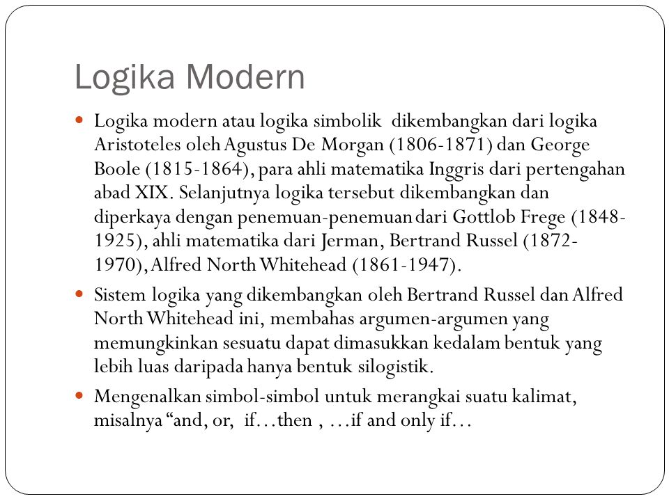 Logika Modern