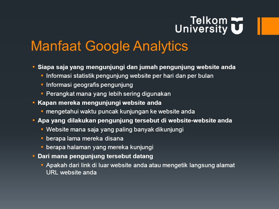 Manfaat Google Analytics