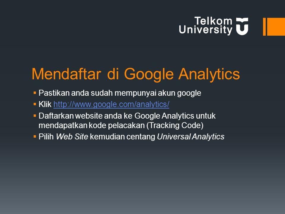 Mendaftar di Google Analytics