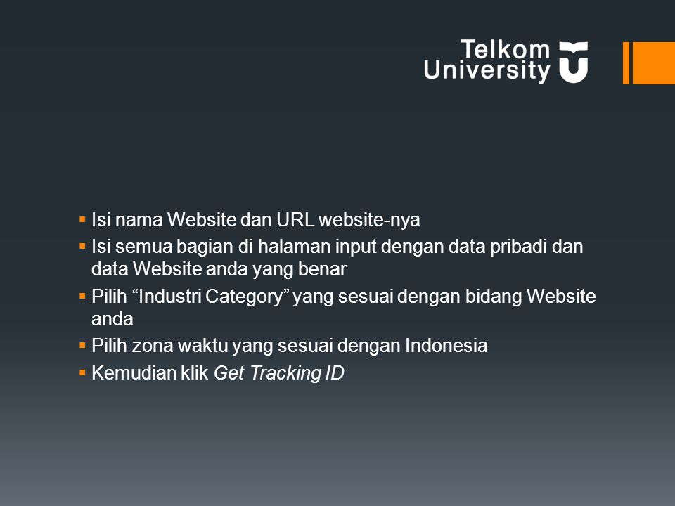Isi nama Website dan URL website-nya