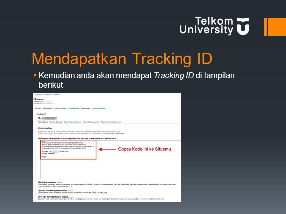 Mendapatkan Tracking ID