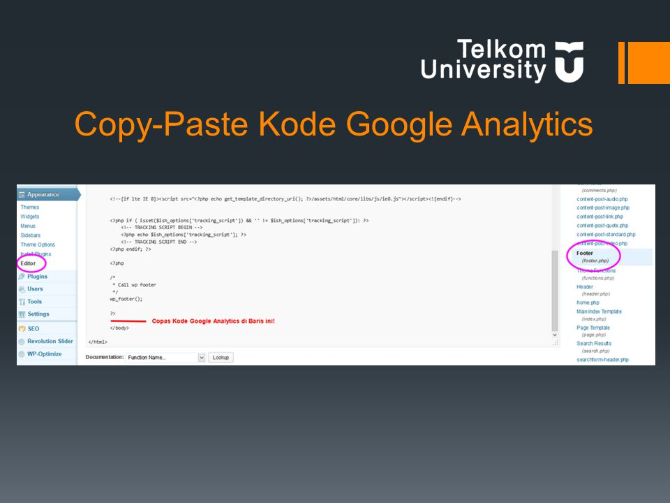 Copy-Paste Kode Google Analytics