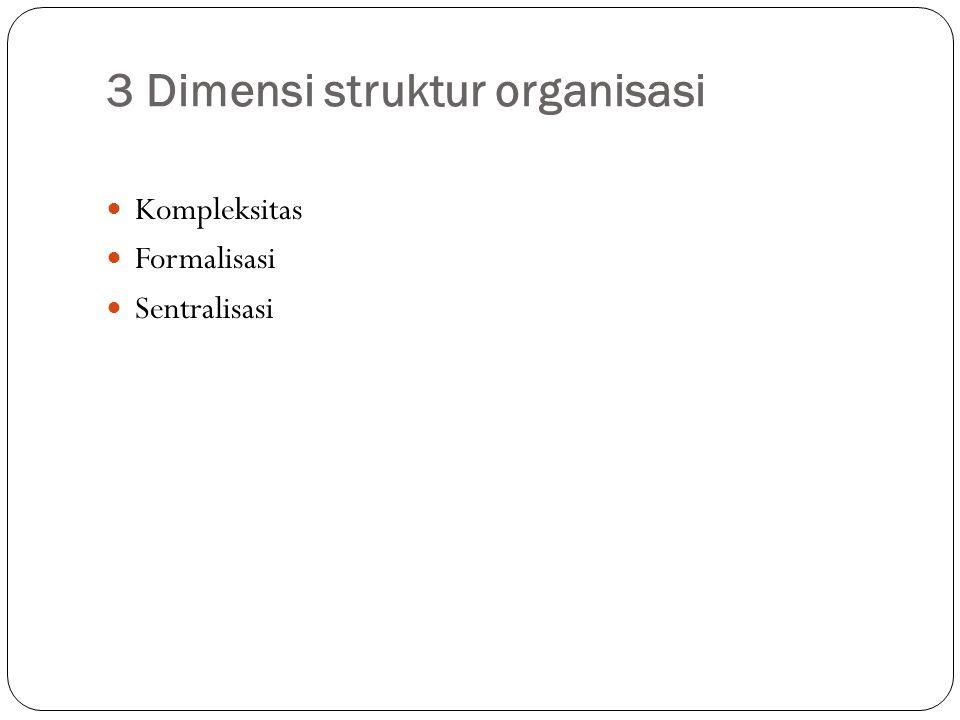 3 Dimensi struktur organisasi