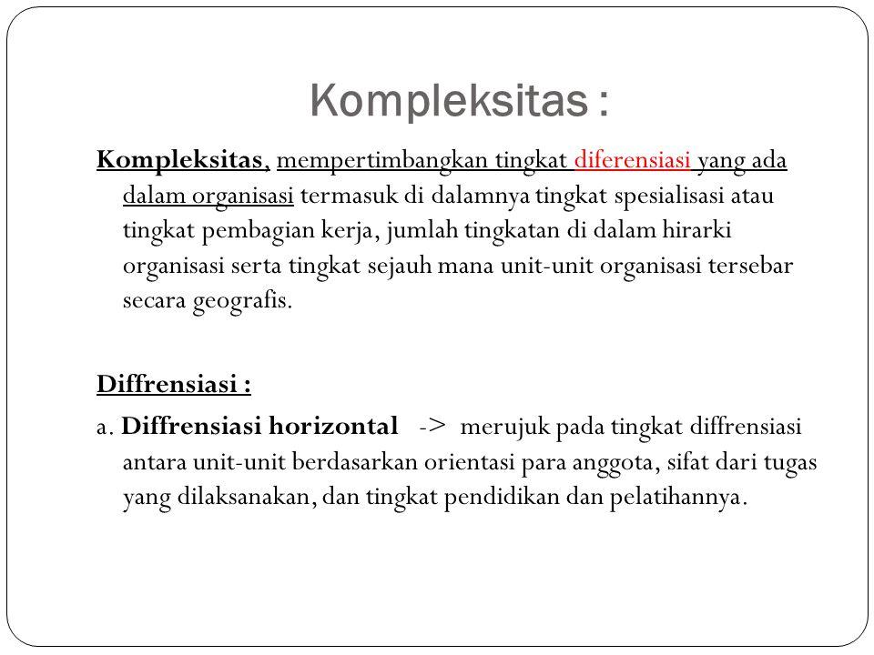 Kompleksitas :
