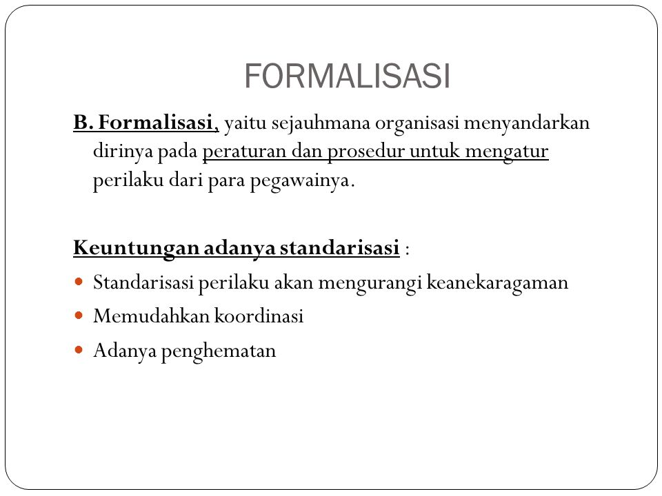 FORMALISASI