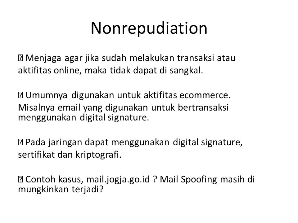 Nonrepudiation