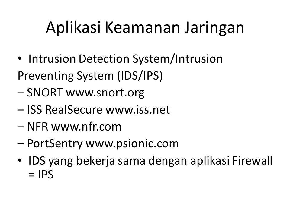 Aplikasi Keamanan Jaringan
