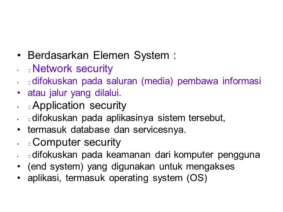 Berdasarkan Elemen System :