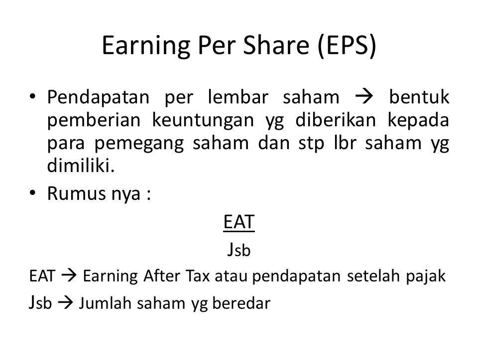 Earning Per Share (EPS)