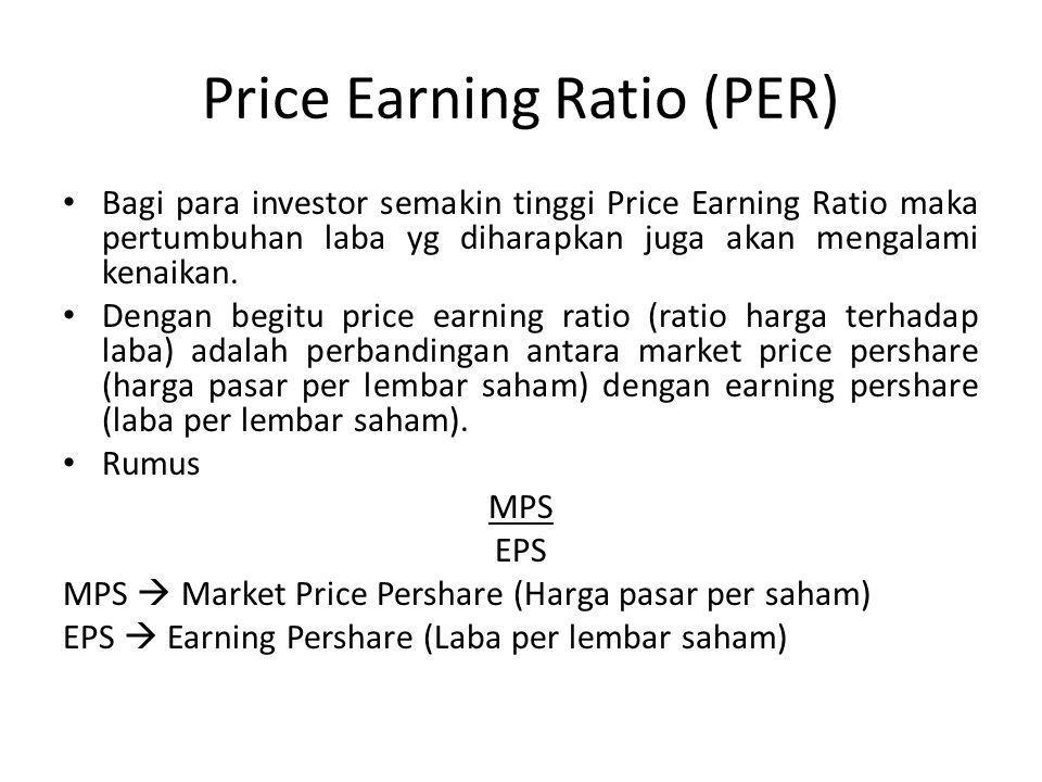 Price Earning Ratio (PER)