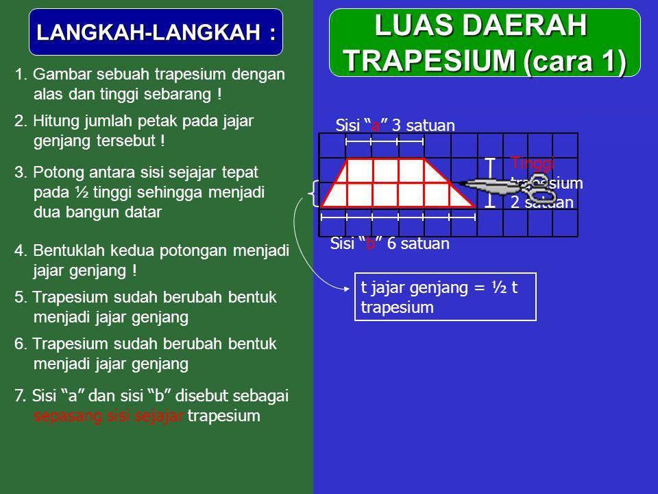 LUAS DAERAH TRAPESIUM (cara 1)