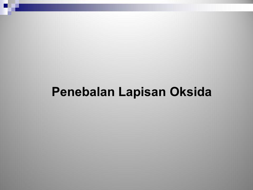 Penebalan Lapisan Oksida