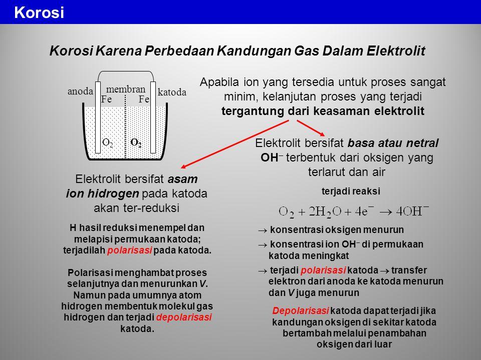 Korosi Korosi Karena Perbedaan Kandungan Gas Dalam Elektrolit