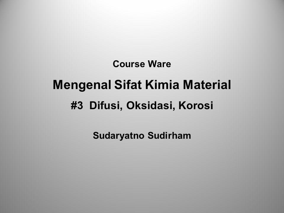 Mengenal Sifat Kimia Material #3 Difusi, Oksidasi, Korosi