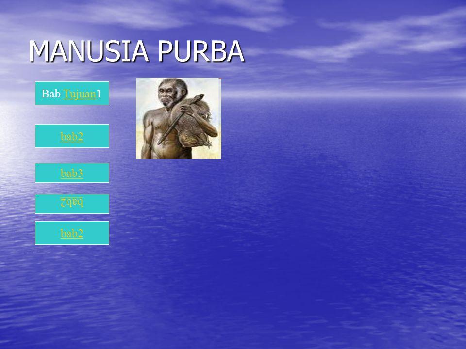 MANUSIA PURBA Bab Tujuan1 bab2 bab3 bab2 bab2
