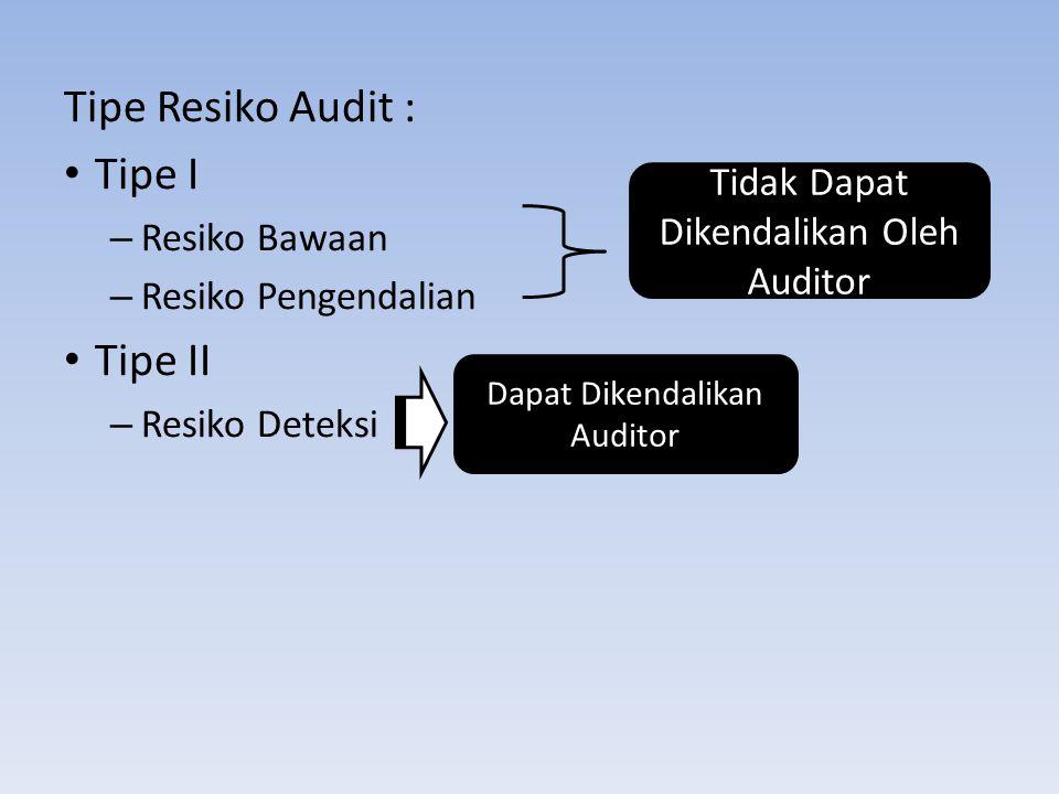 Tipe Resiko Audit : Tipe I Tipe II Resiko Bawaan