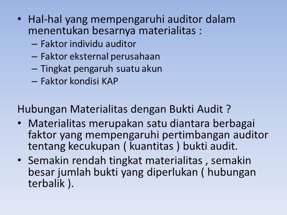 Hubungan Materialitas dengan Bukti Audit