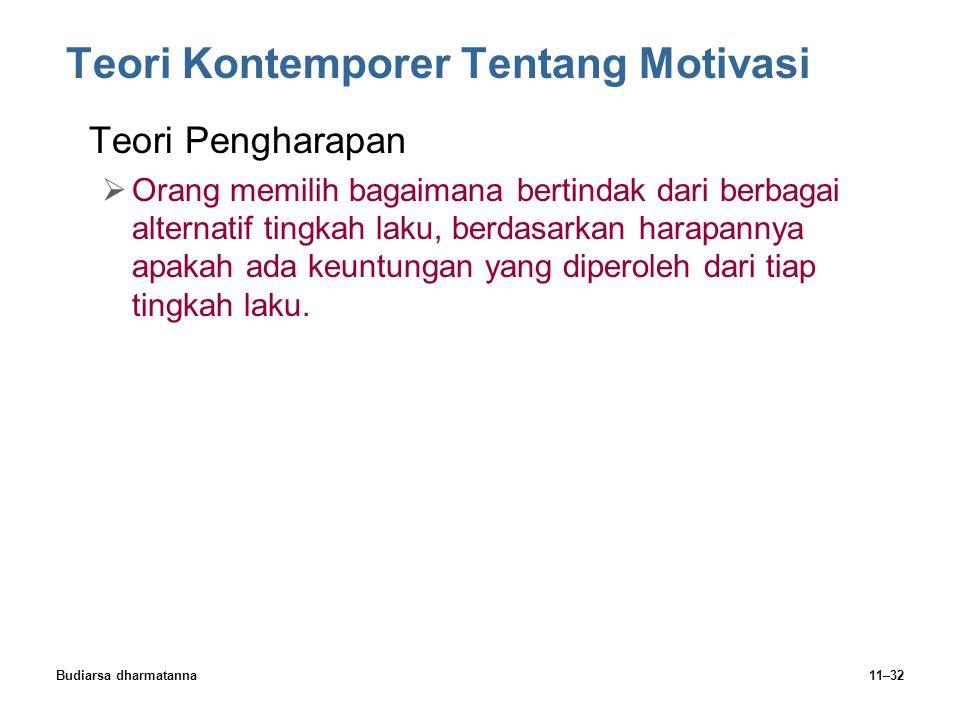 Teori Kontemporer Tentang Motivasi