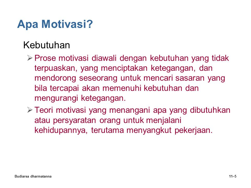 Apa Motivasi Kebutuhan