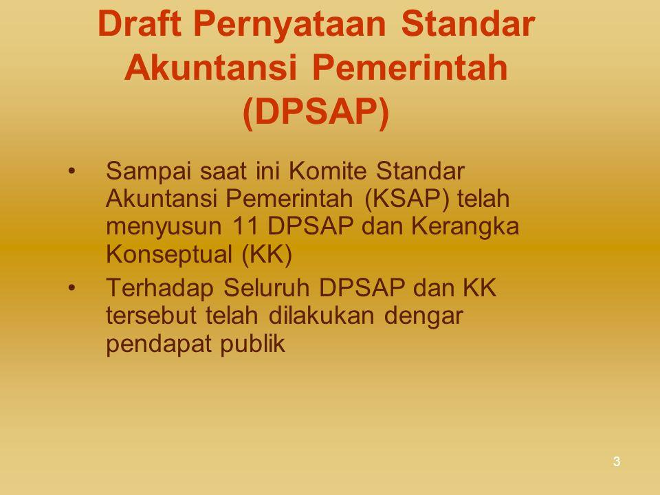 Draft Pernyataan Standar Akuntansi Pemerintah (DPSAP)