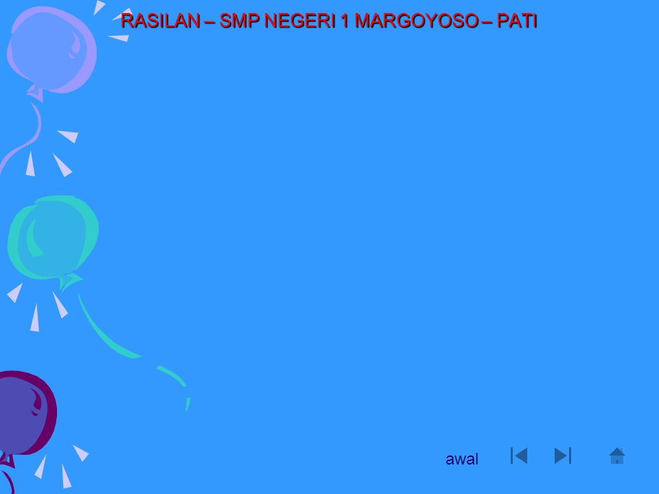 RASILAN – SMP NEGERI 1 MARGOYOSO – PATI