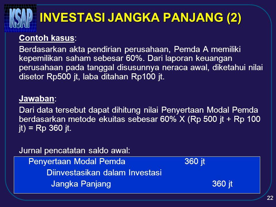 INVESTASI JANGKA PANJANG (2)