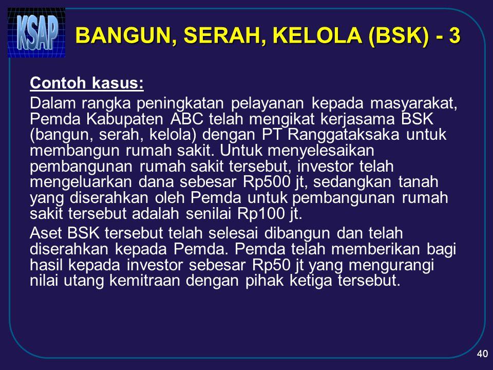 BANGUN, SERAH, KELOLA (BSK) - 3