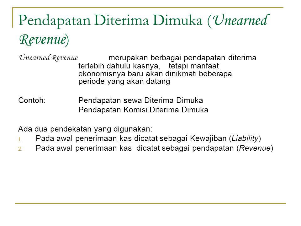 Pendapatan Diterima Dimuka (Unearned Revenue)