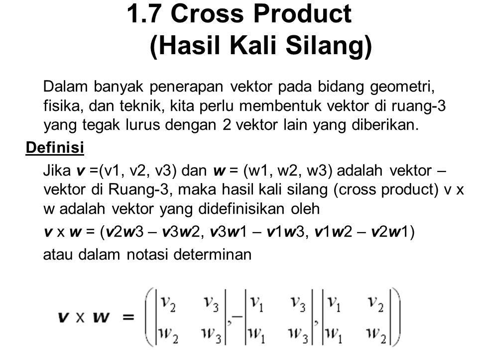 1.7 Cross Product (Hasil Kali Silang)