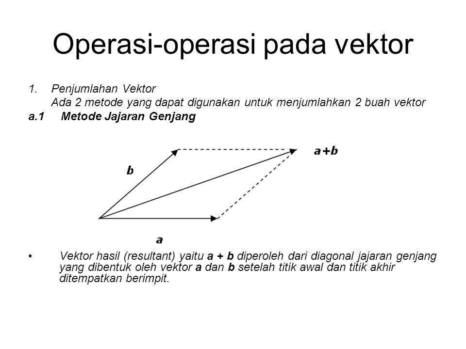 Operasi-operasi pada vektor