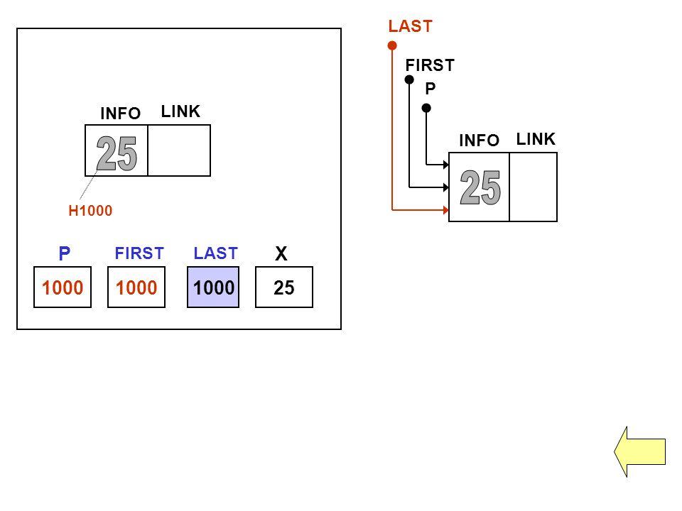 25 25 P X 1000 1000 1000 25 LAST FIRST P INFO LINK INFO LINK FIRST