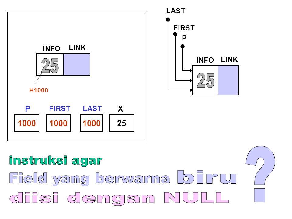 25 25 instruksi agar biru Field yang berwarna diisi dengan NULL