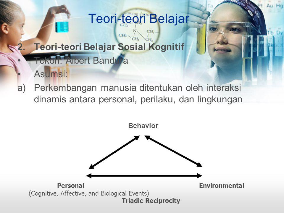 Teori-teori Belajar Teori-teori Belajar Sosial Kognitif