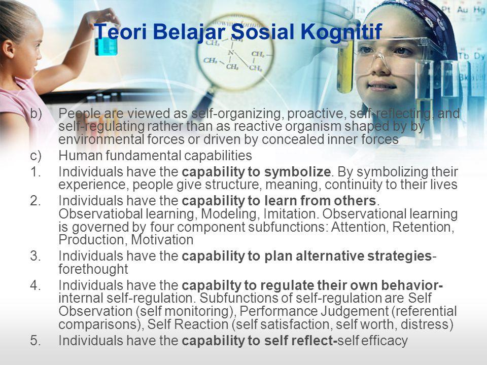 Teori Belajar Sosial Kognitif