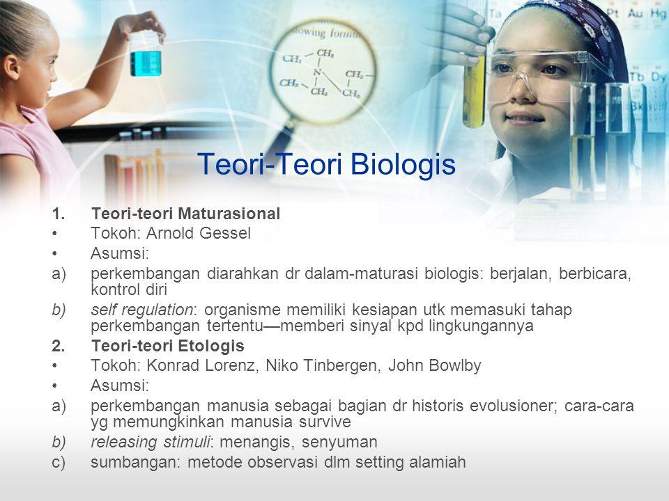 Teori-Teori Biologis Teori-teori Maturasional Tokoh: Arnold Gessel