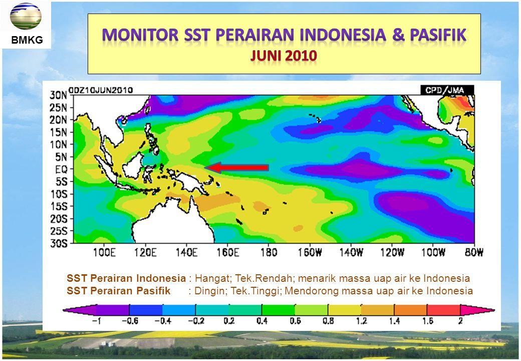 MONITOR SST PERAIRAN Indonesia & Pasifik Juni 2010