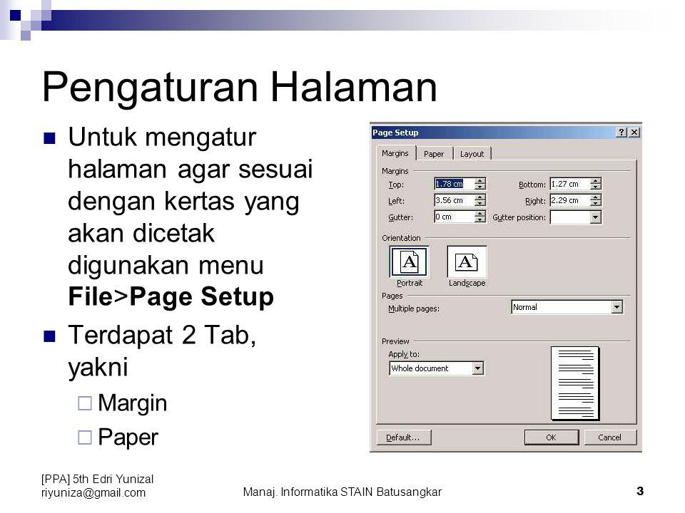 Manaj. Informatika STAIN Batusangkar
