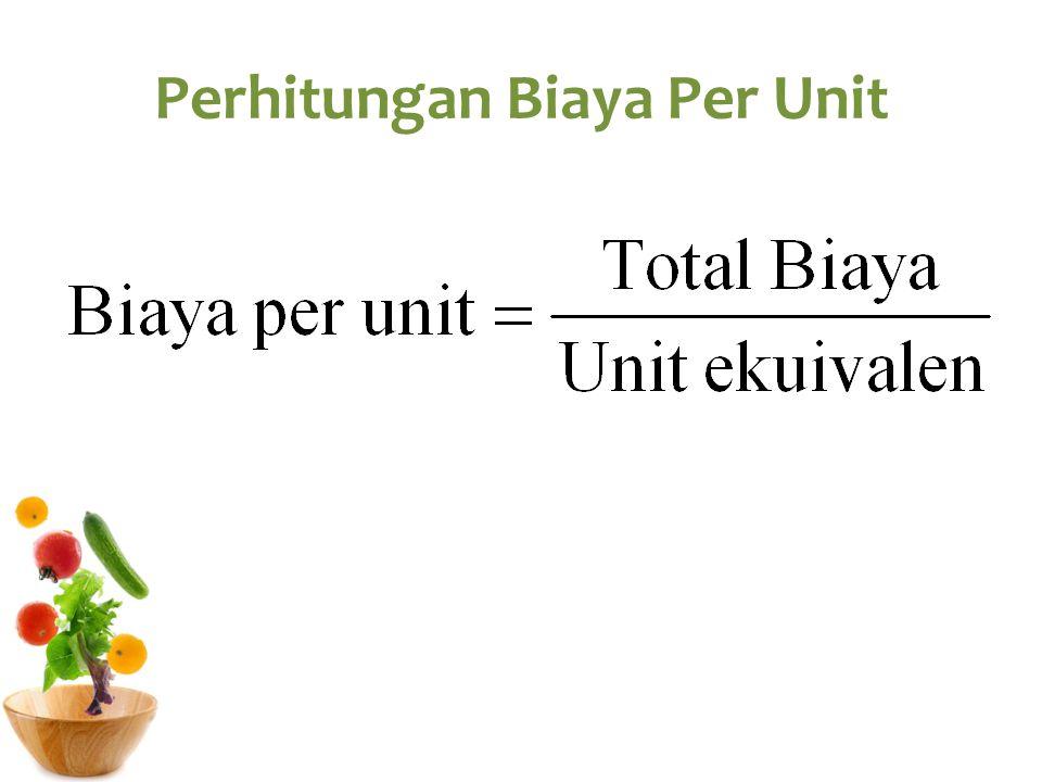 Perhitungan Biaya Per Unit