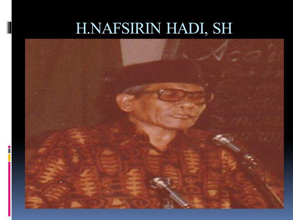 H.NAFSIRIN HADI, SH